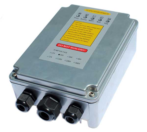Solar well pump controller used to operate the brushless well pump