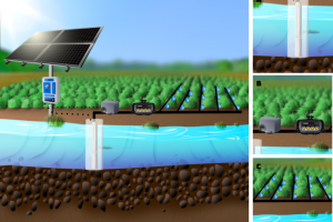 Faux PVC Well in River to Drip Lines with Irrigation Timer